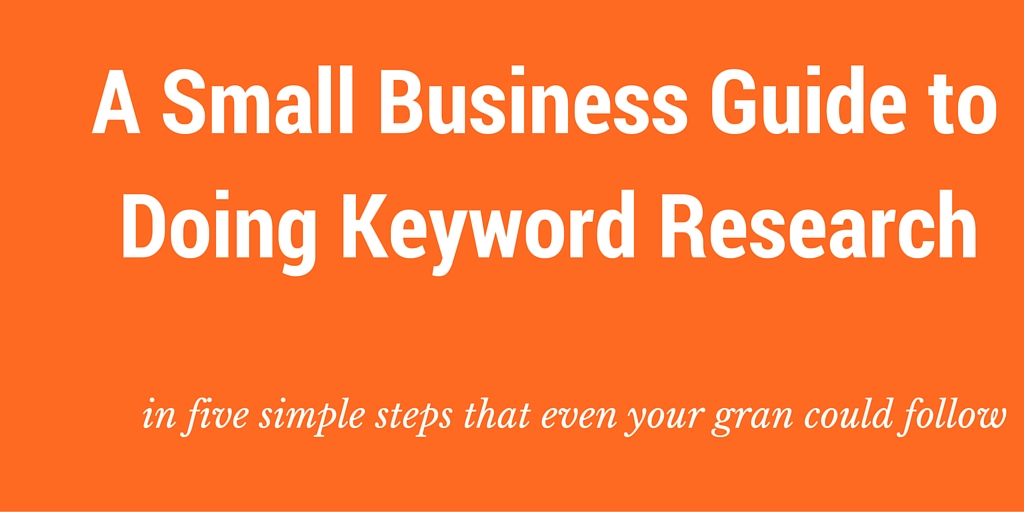 simple keyword research for small business