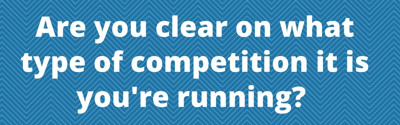 starting a blog running a competition 2