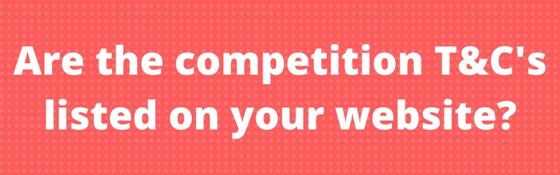 starting a blog running a competition