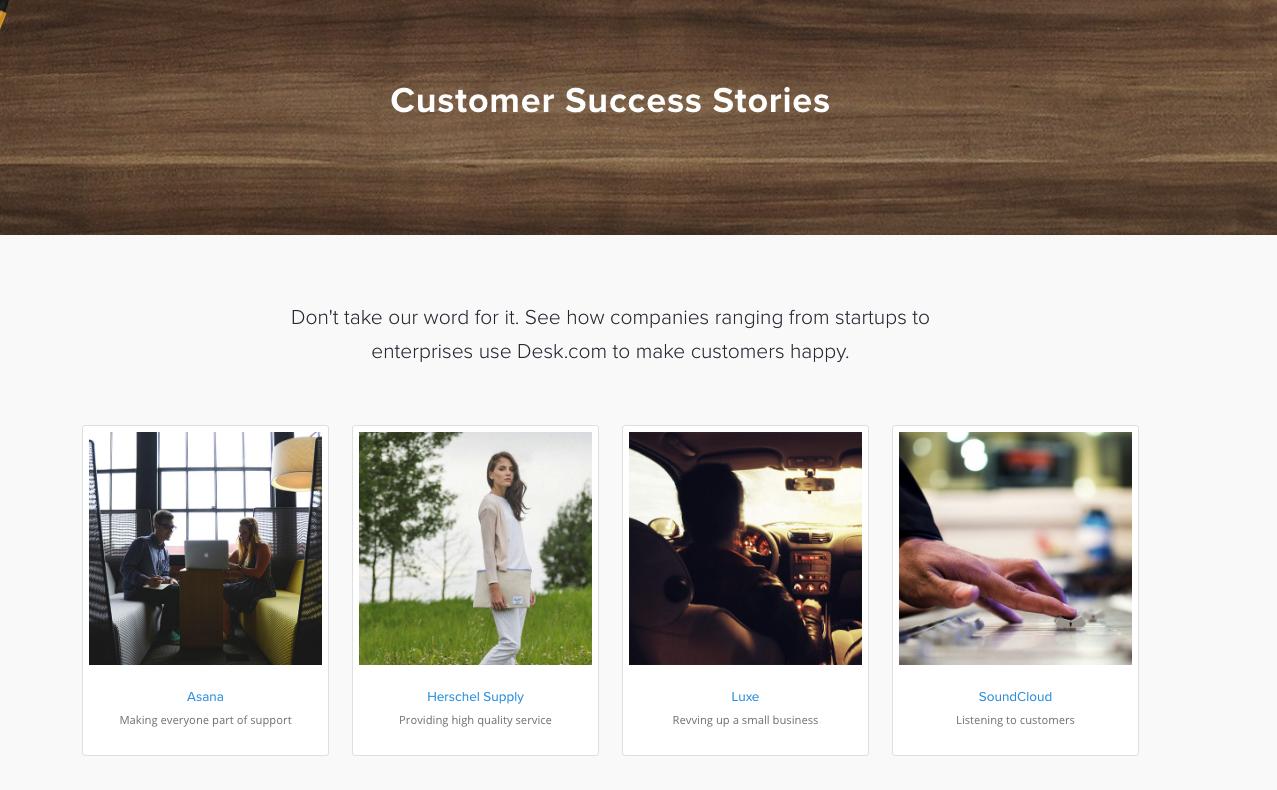 example customer testimonial page