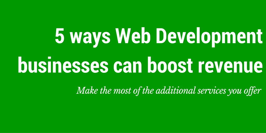 how to grow revenue web development business