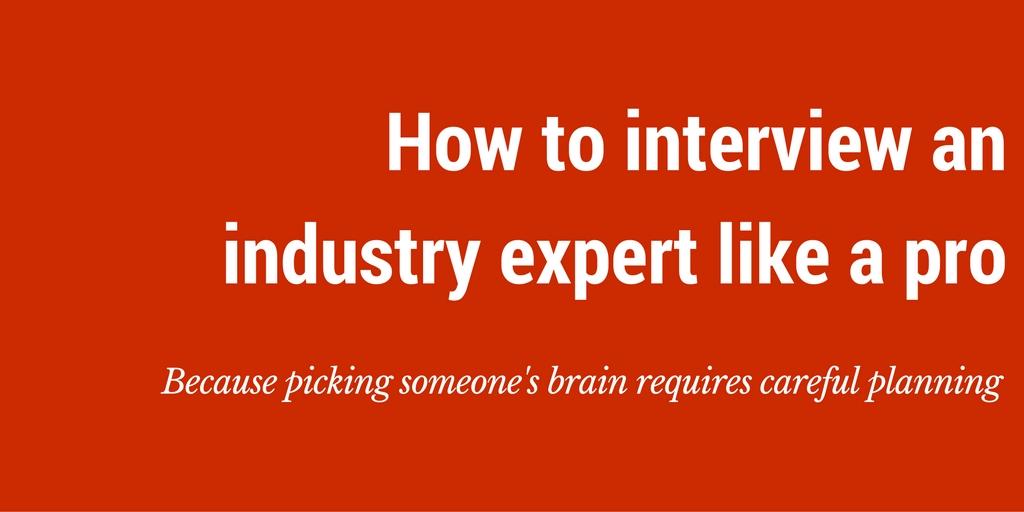 blog ideas how to interview an industry expert