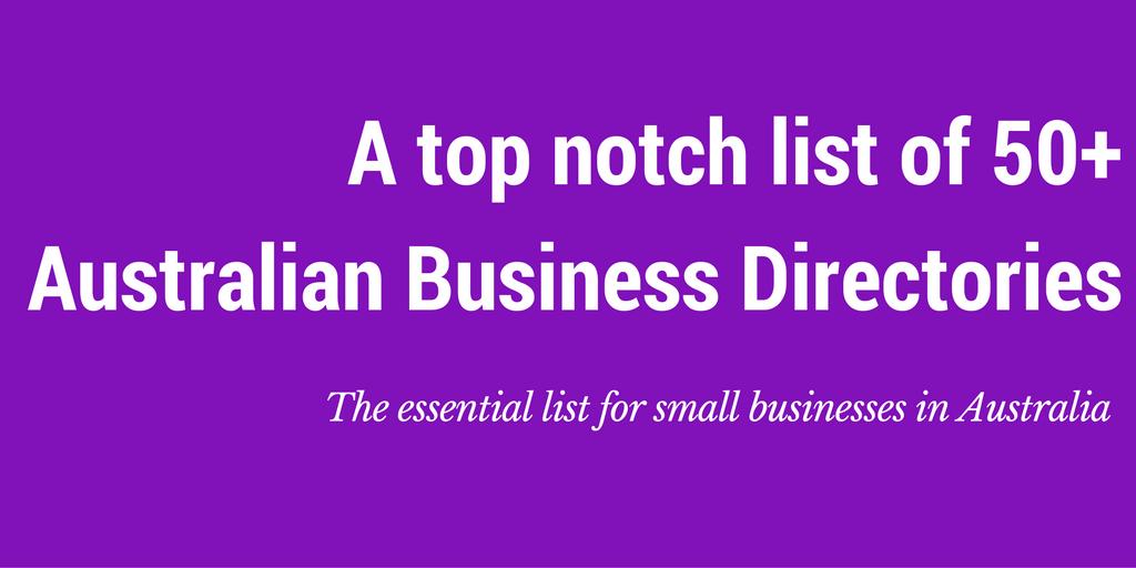 list australian local business directories