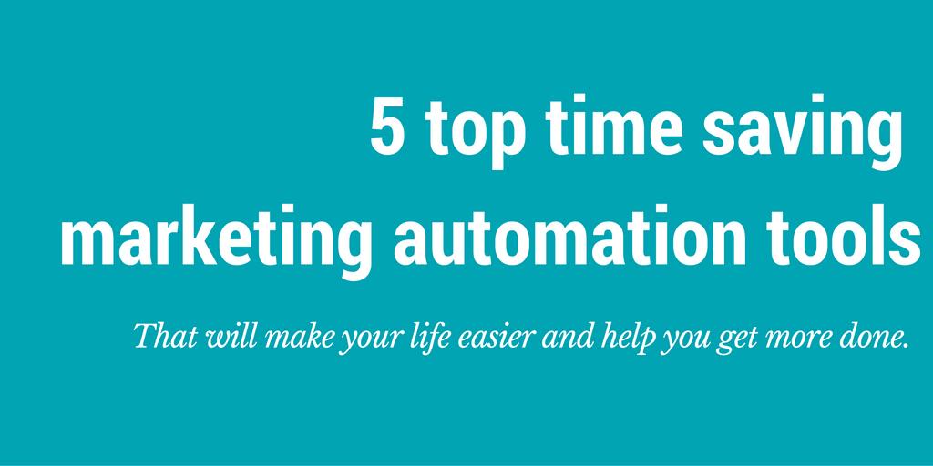 time saving marketing automation tools