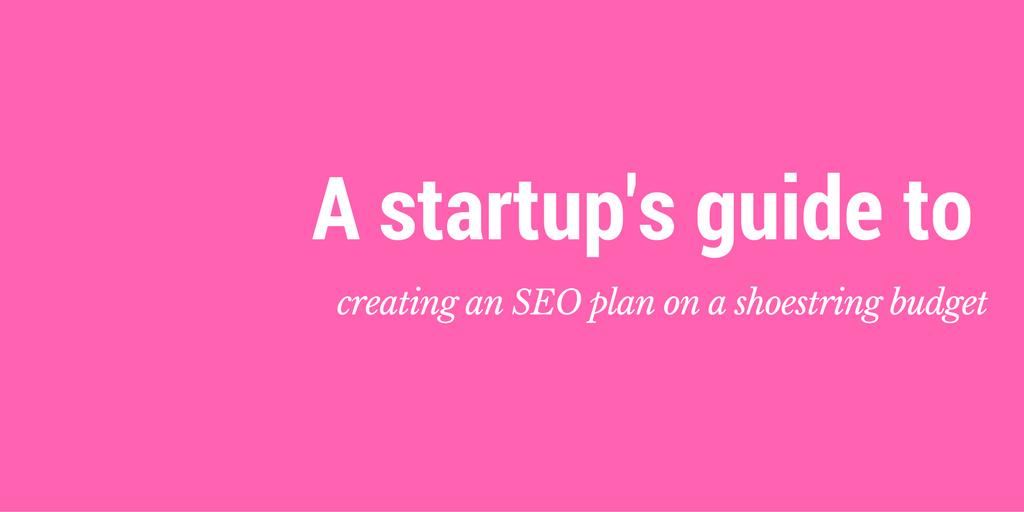 startup seo plan